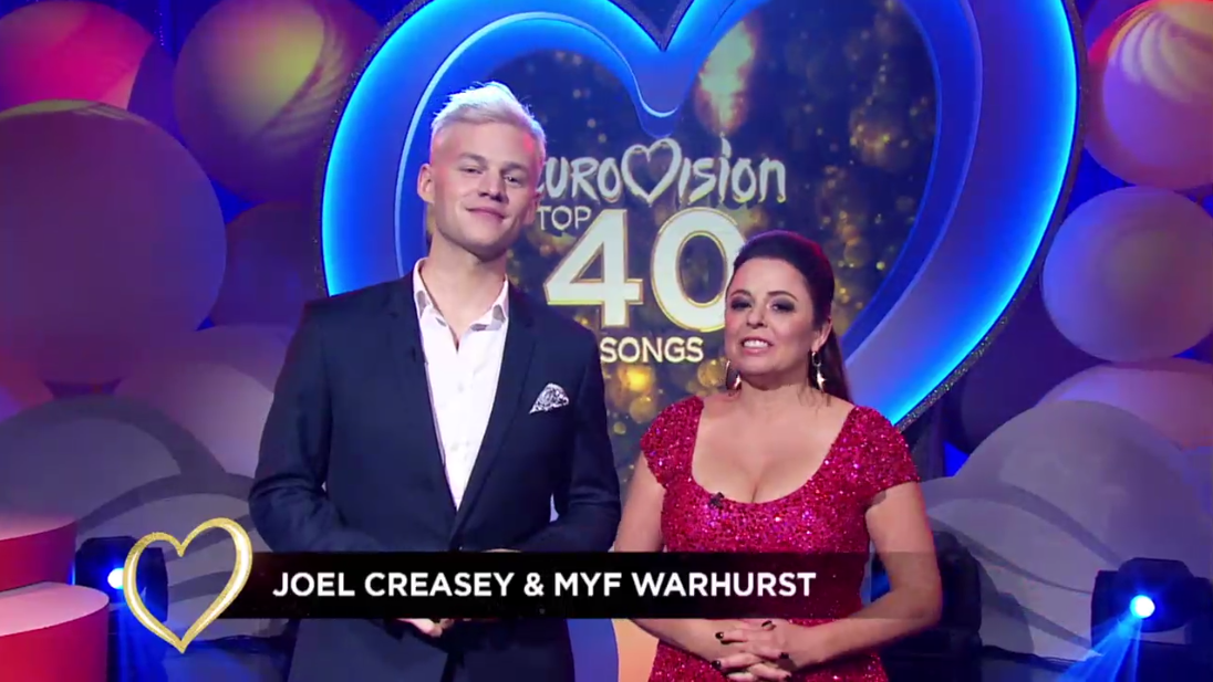 """Review: SBS's """"EUROVISION TOP 40 SONGS""""  Wednesday 10 May"""